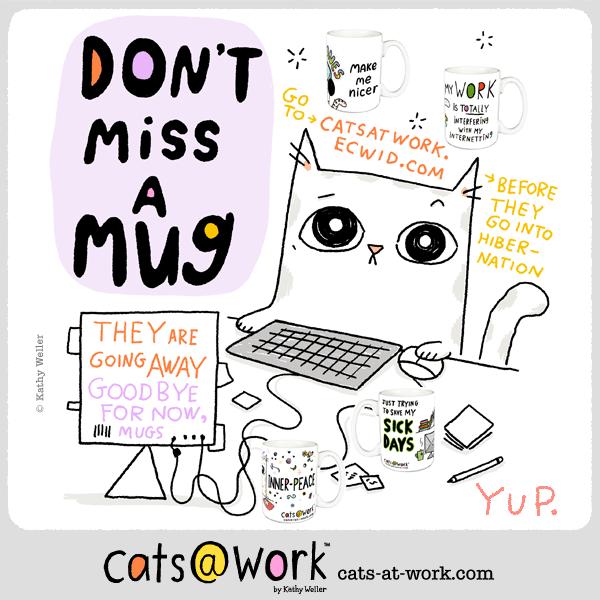 Cats@Work Mugs